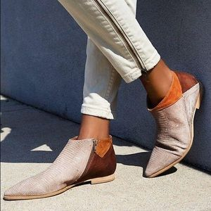 $198 Free People Desert Rider Ankle Boot Tan/Brown